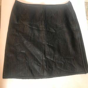 Worth Black Leather Skirt Sz 6